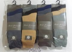 Mens 3 pair plain dress socks